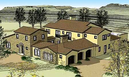 Tuscan W 2 Courtyards Tuscan House Mediterranean Homes Architectural Design House Plans