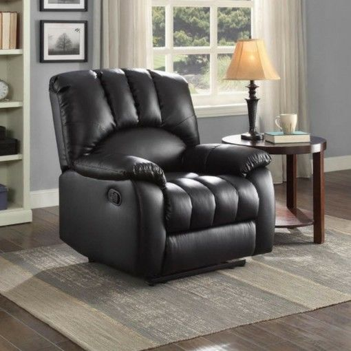 Beautiful Living Room Recliner TV Sofa Lounge Lazy Arm Chair Padded PU Leather Couch Tax 0 Minimalist - Latest Accent Chair with Brown Leather sofa Trending