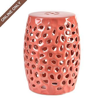 Prime Pierced Coral Garden Stool Outdoor Stools Coral Garden Pdpeps Interior Chair Design Pdpepsorg
