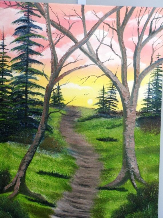 "Nature scene painting original oil on canvas by Matt Borst, ""Golden Trail"""
