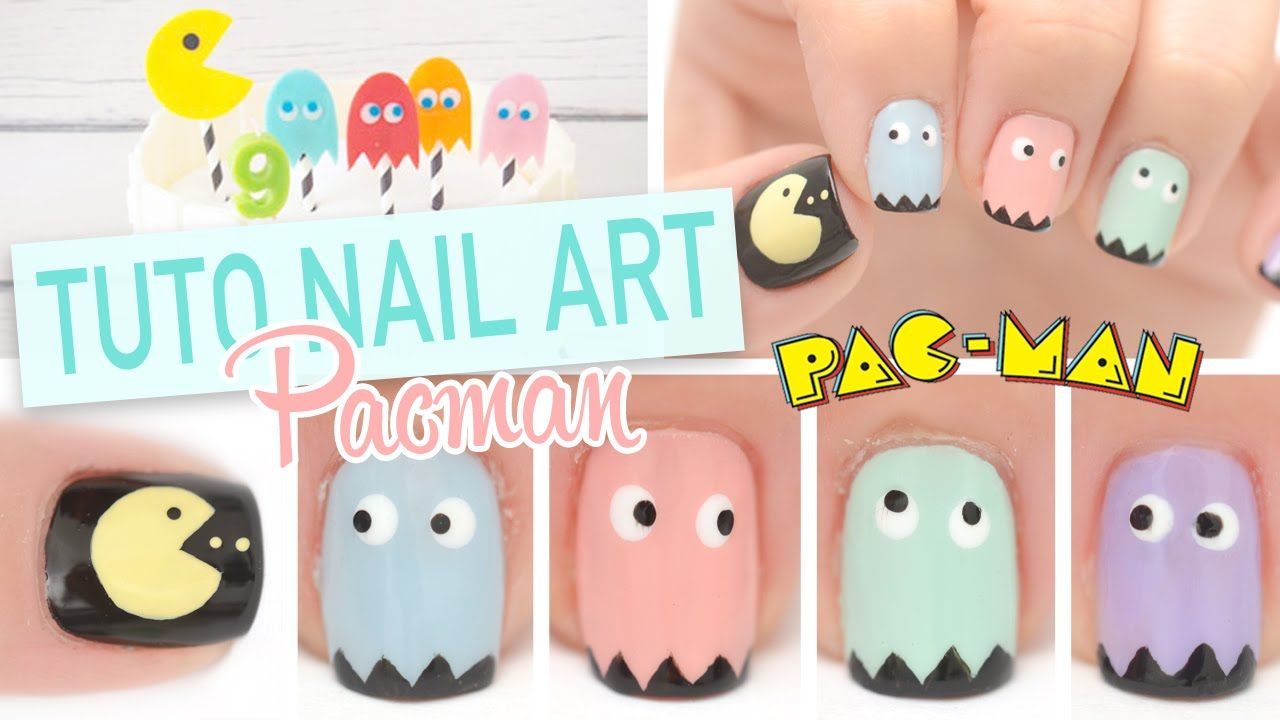 Tuto nail art facile pacman nail art pinterest ongles anime nails and nail art - Nail art debutant ...