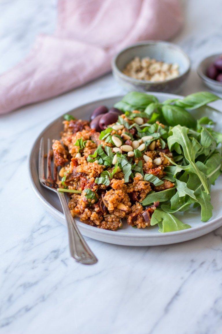 Photo of Mediterranes Quinoa mit sonnengetrockneten Tomaten – 30-Minuten-Gerichte – Heavenlynn Healthy