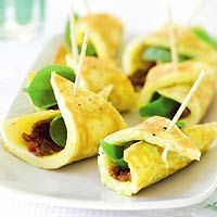 Recept - Omeletpuntjes met basilicum - Allerhande