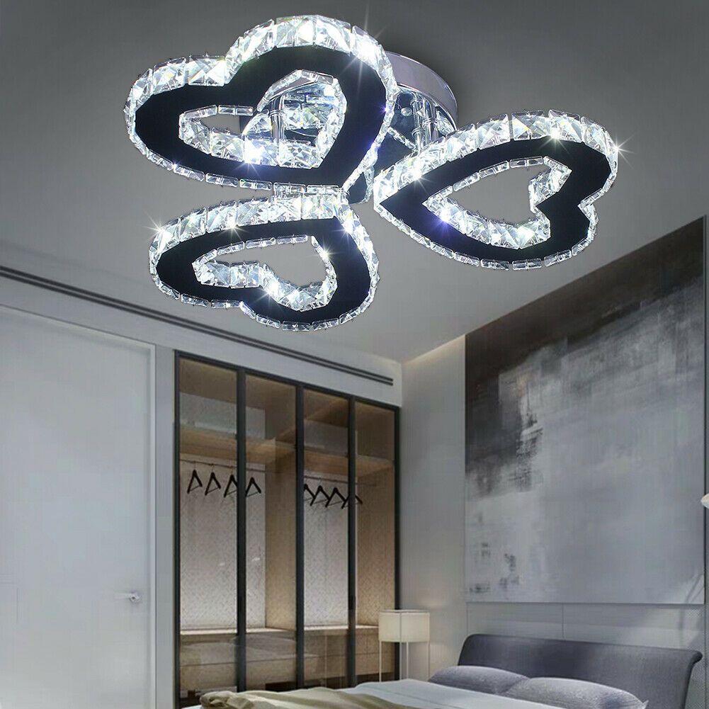 Modern Crystal Chandelier Heart Shaped Led Ceiling Lights In 2020 Modern Crystal Chandelier Led Ceiling Lights Crystal Ceiling Light