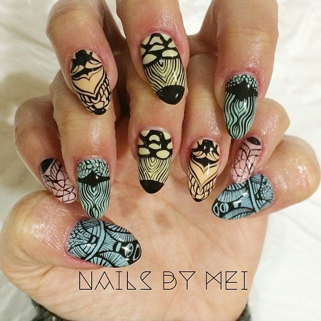 Nails by Mei: inspired by artist Gambett in Paris
