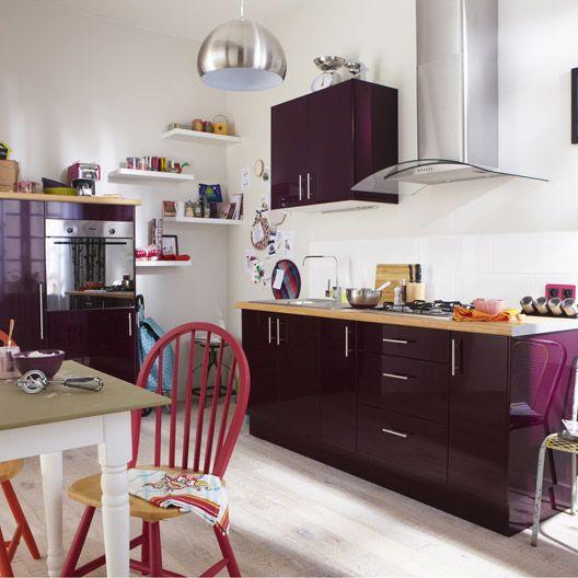 meuble de cuisine delinia composition type aubergine violet aubergine n 1 home sweet home. Black Bedroom Furniture Sets. Home Design Ideas