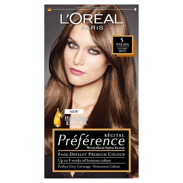 Preference Infinia 5 Palma Natural Light Brown Hair Dye Loreal Preference Hair Color Loreal Hair Dye Loreal Hair Color
