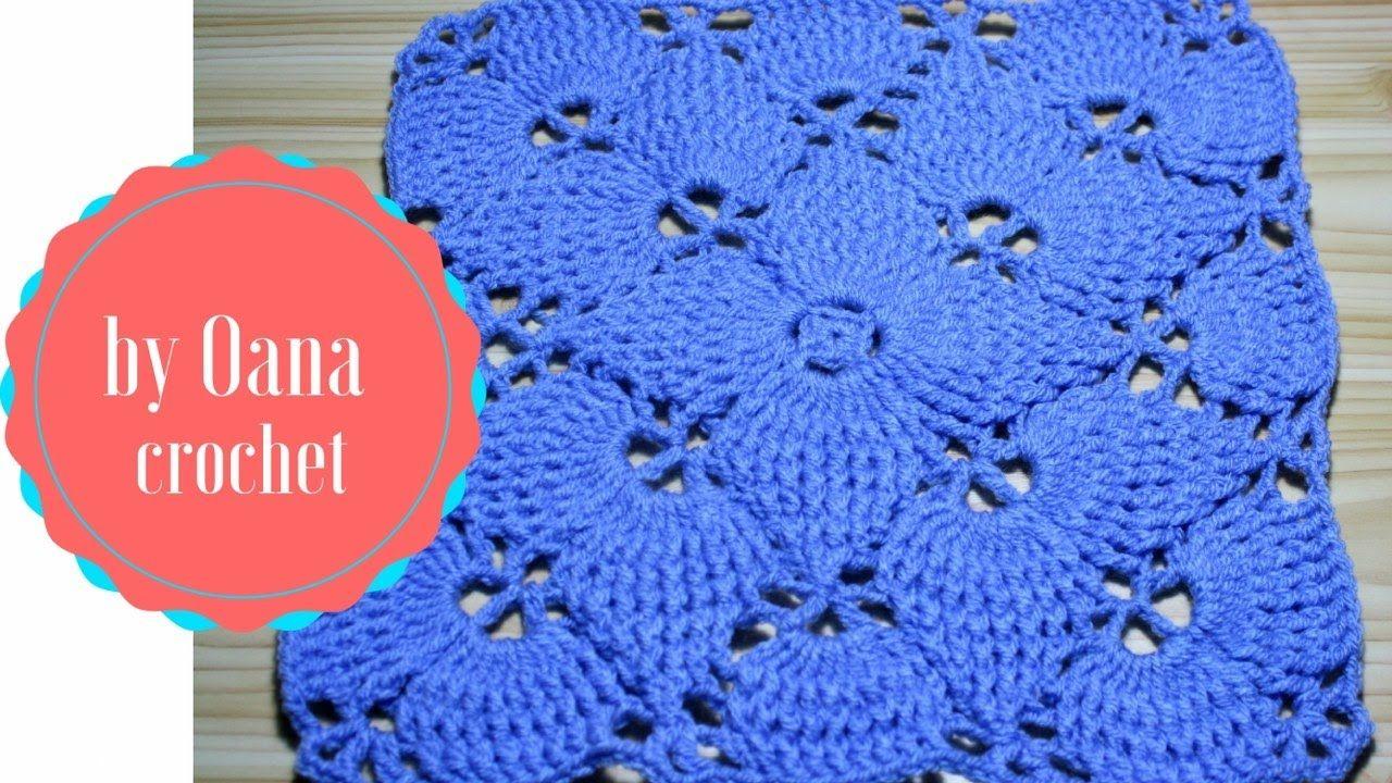 Crochet leaf stitch square | Crochet Seven | Pinterest | Crochet ...