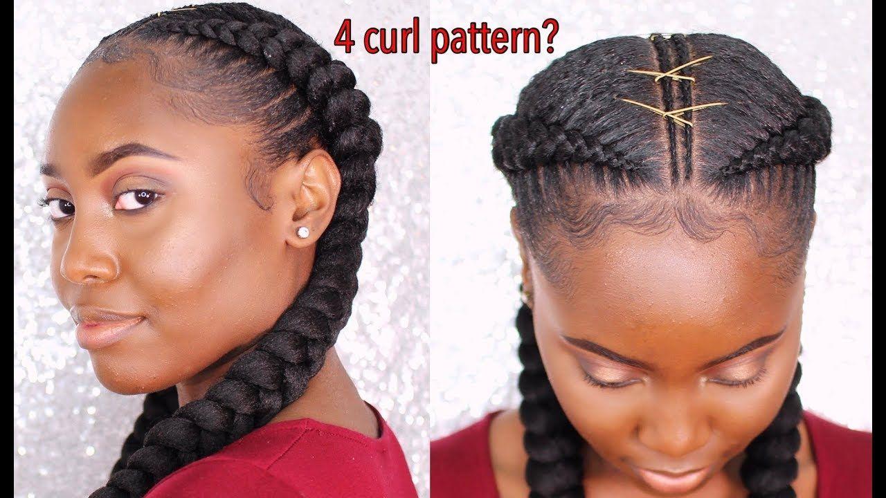 Feed In Braids On Natural 4 Hair Texture No Heat Gel Sensationnel Ruwa Youtube Hair Styles Feed In Braid Feed In Braids Hairstyles