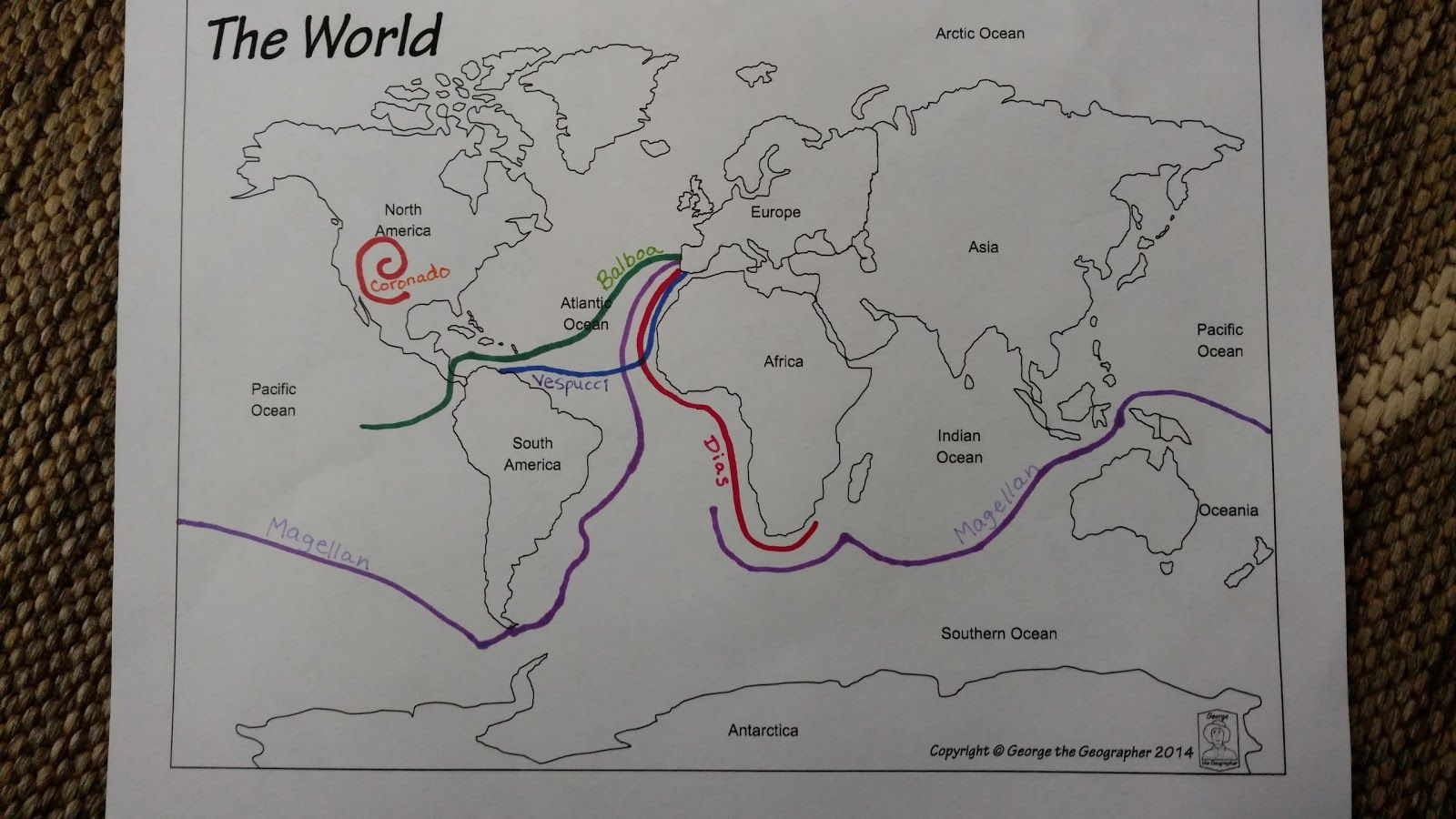 C2 Wk8 Print Out World Map And Mark The Exploration Routes