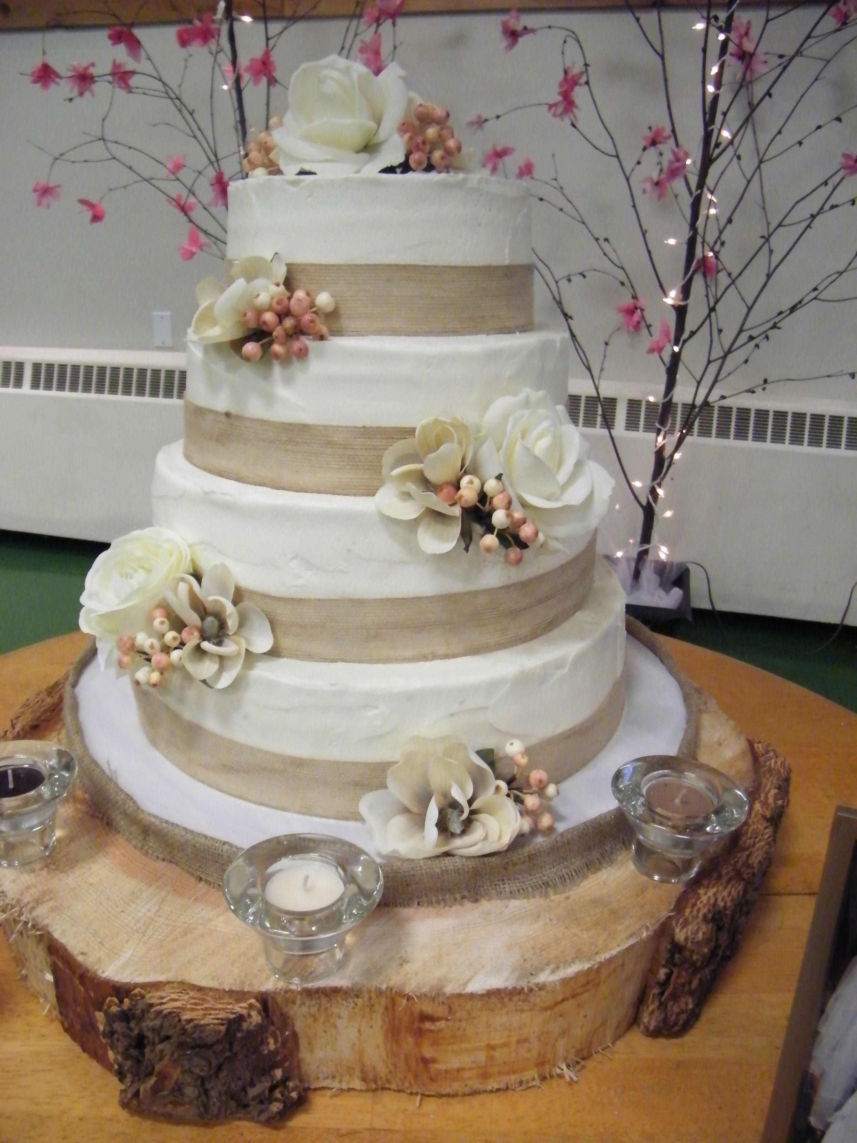 Rustic Themed Wedding Cake Banana Cake With Caramel Creamcheese