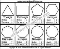 Corners and Sides - Polygons - Triangle, Rectangle ...