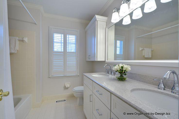 Bathroom Vanities With Stellar Snow Silestone Cabinets White
