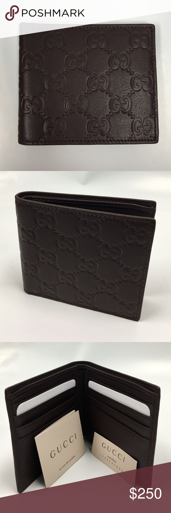Gucci Wallet Chocolate Brown GUCCI Guccisima Wallet   Eight card slots and two bill compartments Open: W21cm x H9cm Closed: W11cm x H9cm Made in Italy  %100 authentic. Comes with original box and paper cover. Gucci Bags Wallets