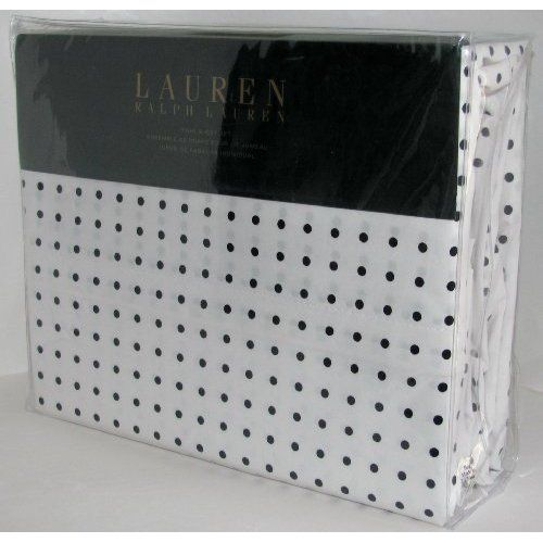 amazoncom lauren ralph lauren sheet set twin black white polka dots home