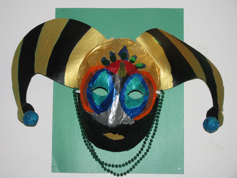 3rd Grade Mardi Gras Paper Mache Mask Lesson Designed By