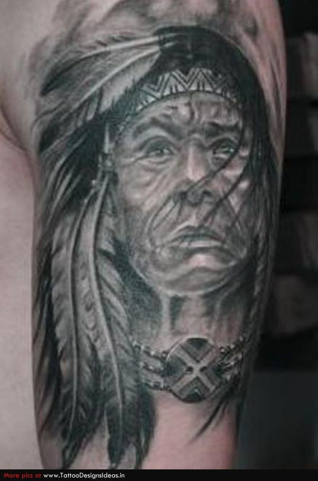 Indian Chief Skull Tattoo Meaning | indian women tattoo ...