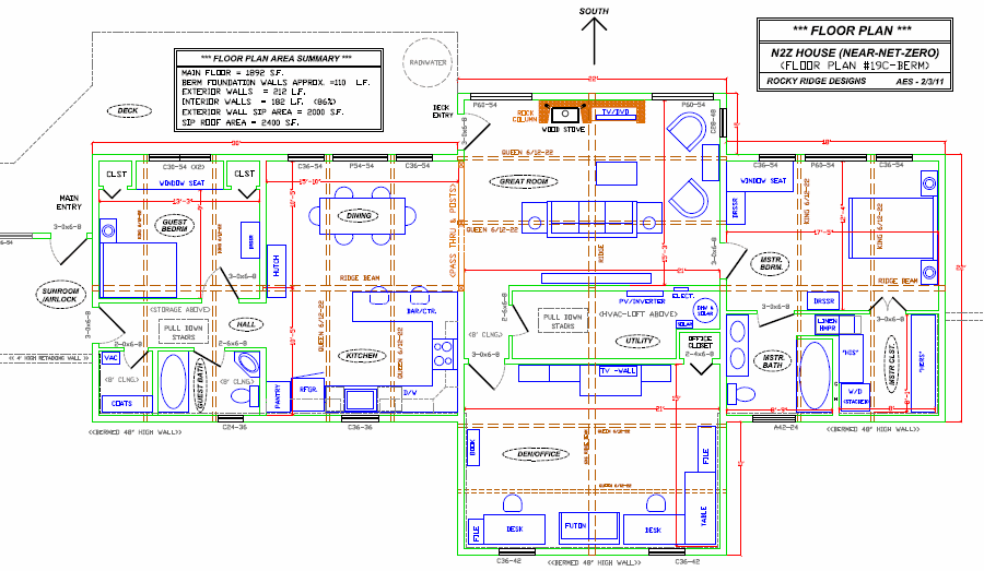 near net zero house floor plan - Zero Energy Home Design Floor Plans