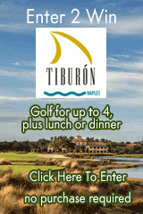 Win Golf for up to Four at Tiburon Naples. Enter at naplesmarcoliving.com/