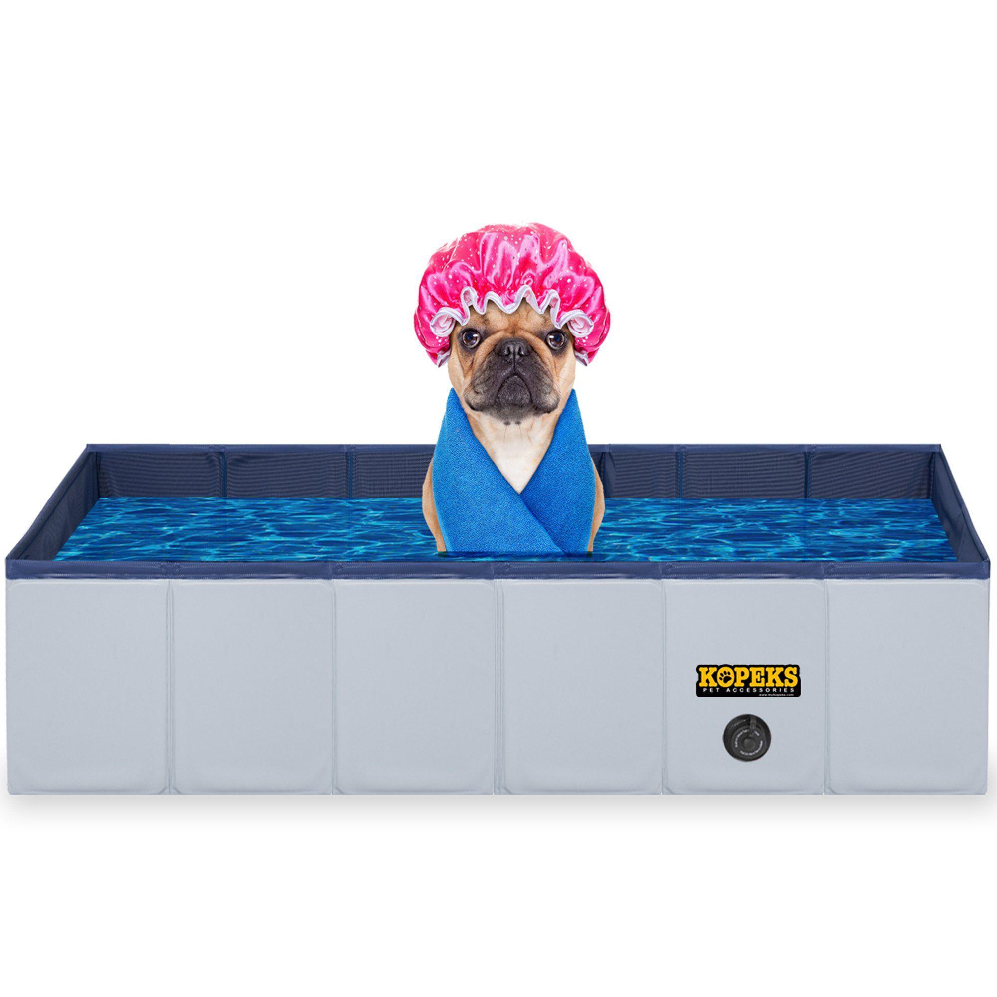 Kopeks Rectangular Outdoor Pet Grey Swimming Pool Large Pets