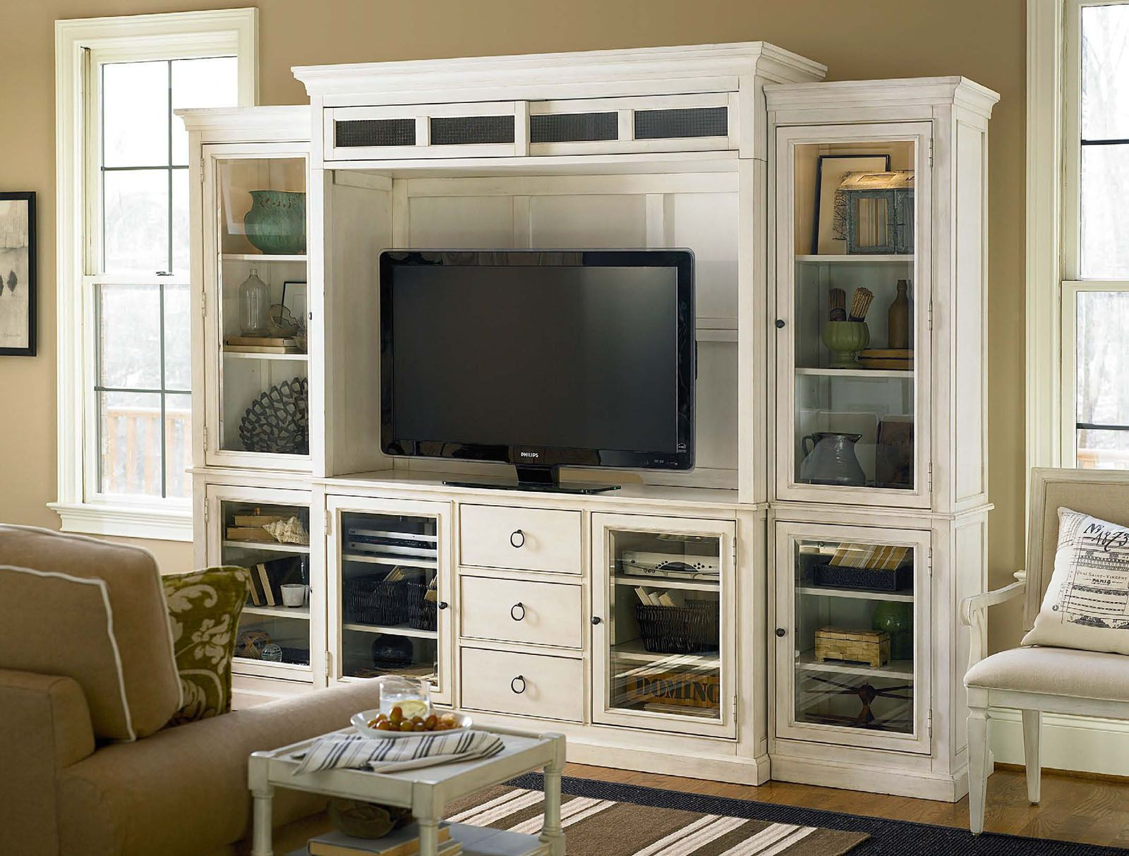 Universal Furniture Summer Hill Home Entertainment System in Cotton 987969 CLEARANCE