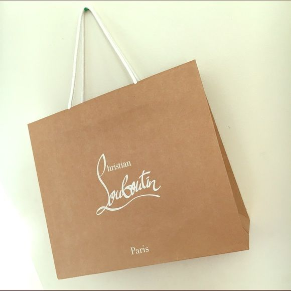 Large Christian Louboutin shopping bag Make your sales more professional with a fabulous high end shopping bag! Great condition . No trades ✨ Christian Louboutin Bags