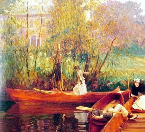 John+Sargent+Singer+Oil+Painting | Boating Party by John Singer Sargent :: John Singer Sargent :: 21 ...