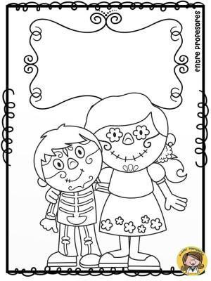 Dibujos para colorear el día de los Muertos | BRUJAS | Pinterest ...