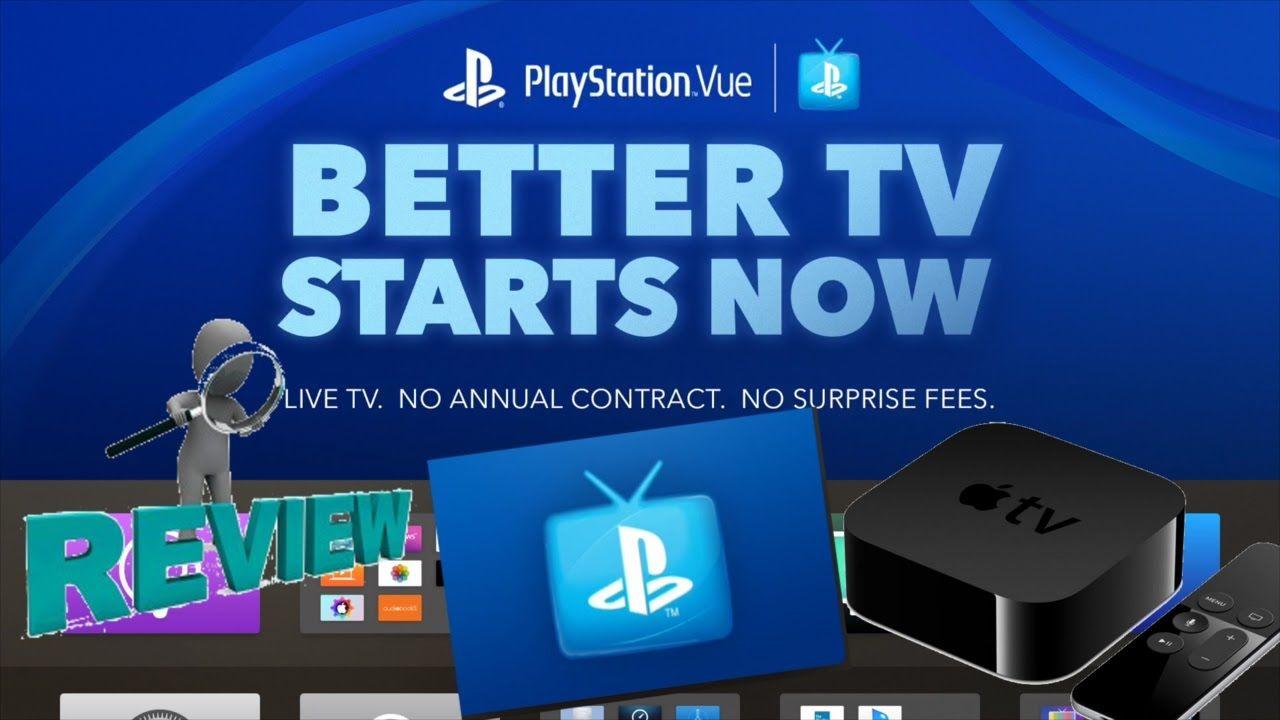 Apple TV 4 PlayStation Vue App Full Review Playstation