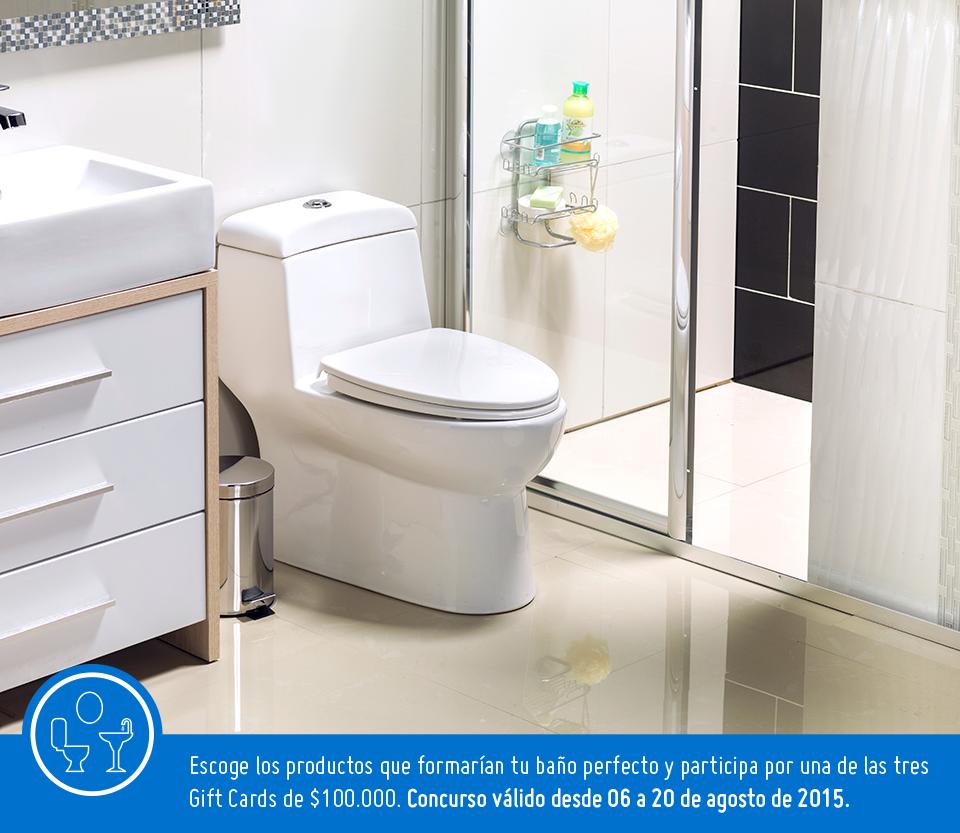 participa creando un tablero llamado baño perfecto, escoge al