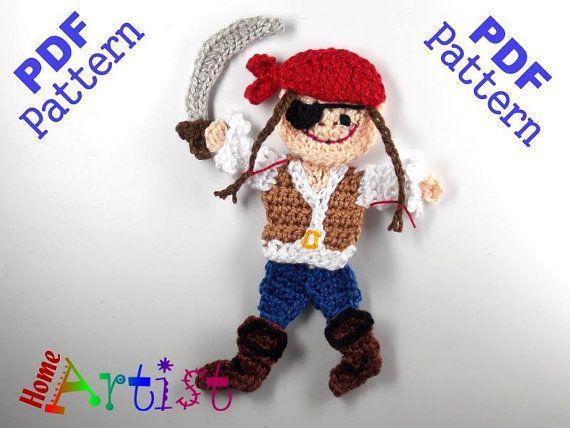 Pirat (Girl) Crochet Applique Pattern