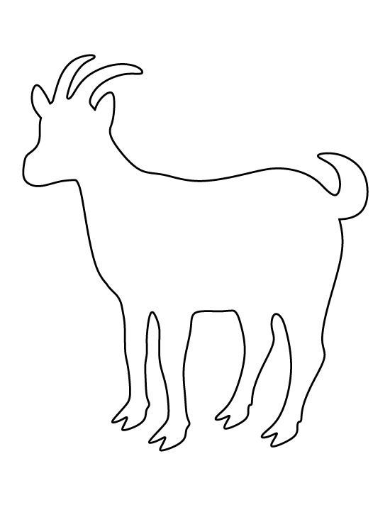 Goat Stencil Made From 4 Ply Mat Board By