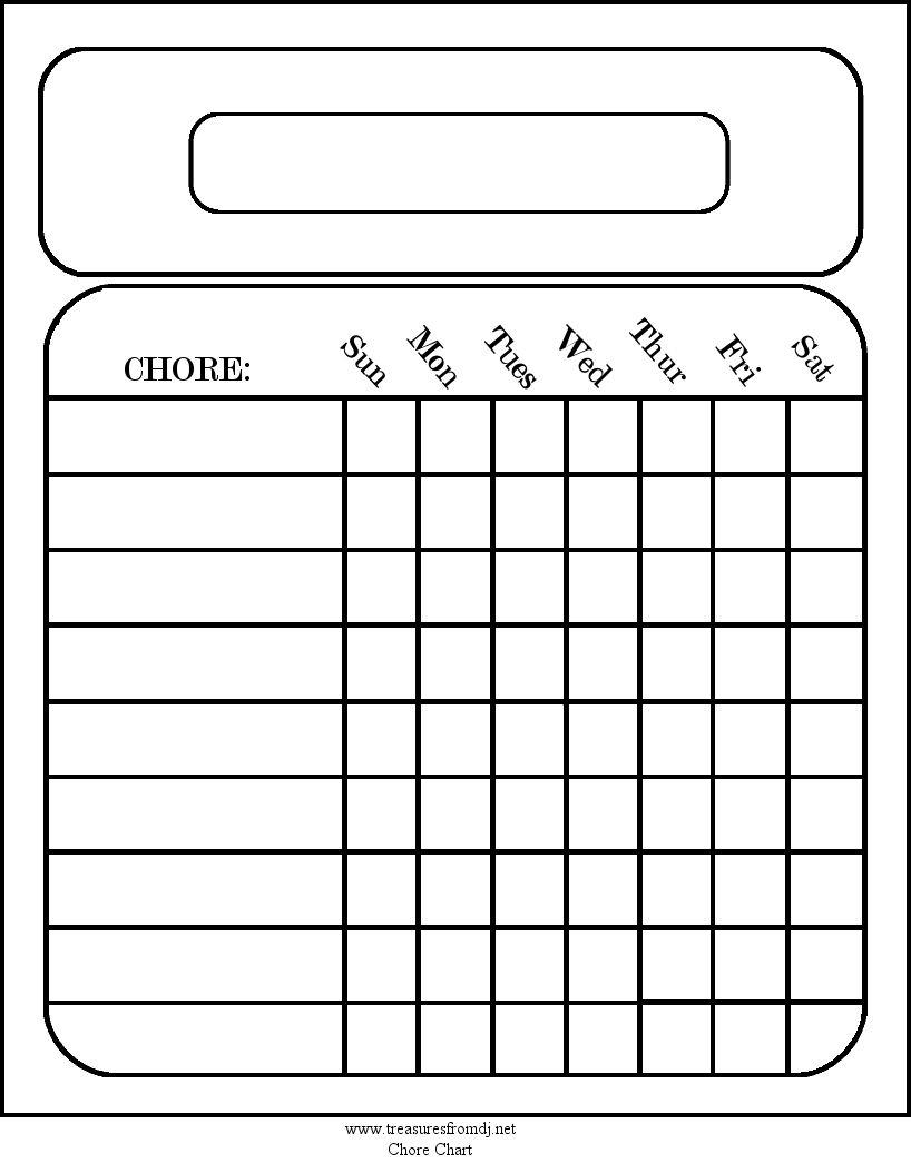 printables for the home chore chart em printables pinterest. Black Bedroom Furniture Sets. Home Design Ideas
