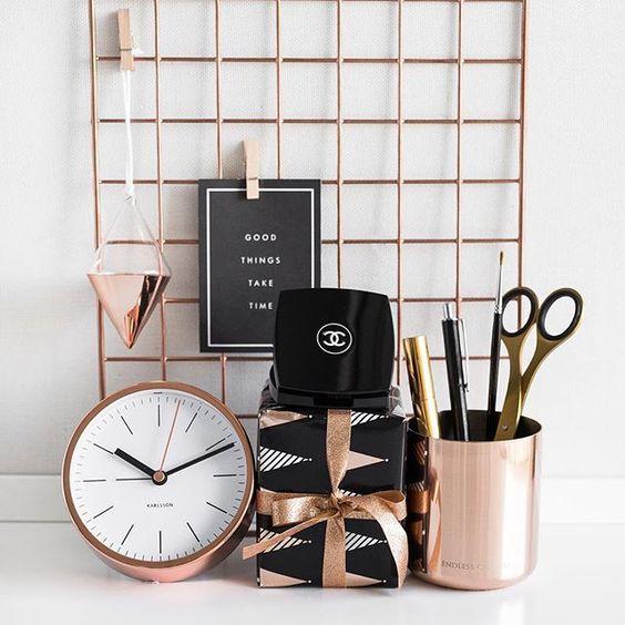 Rose Gold Decor Shop Www Francesca Com Au Modern Office Decor Rose Gold Rooms Rose Gold Bedroom