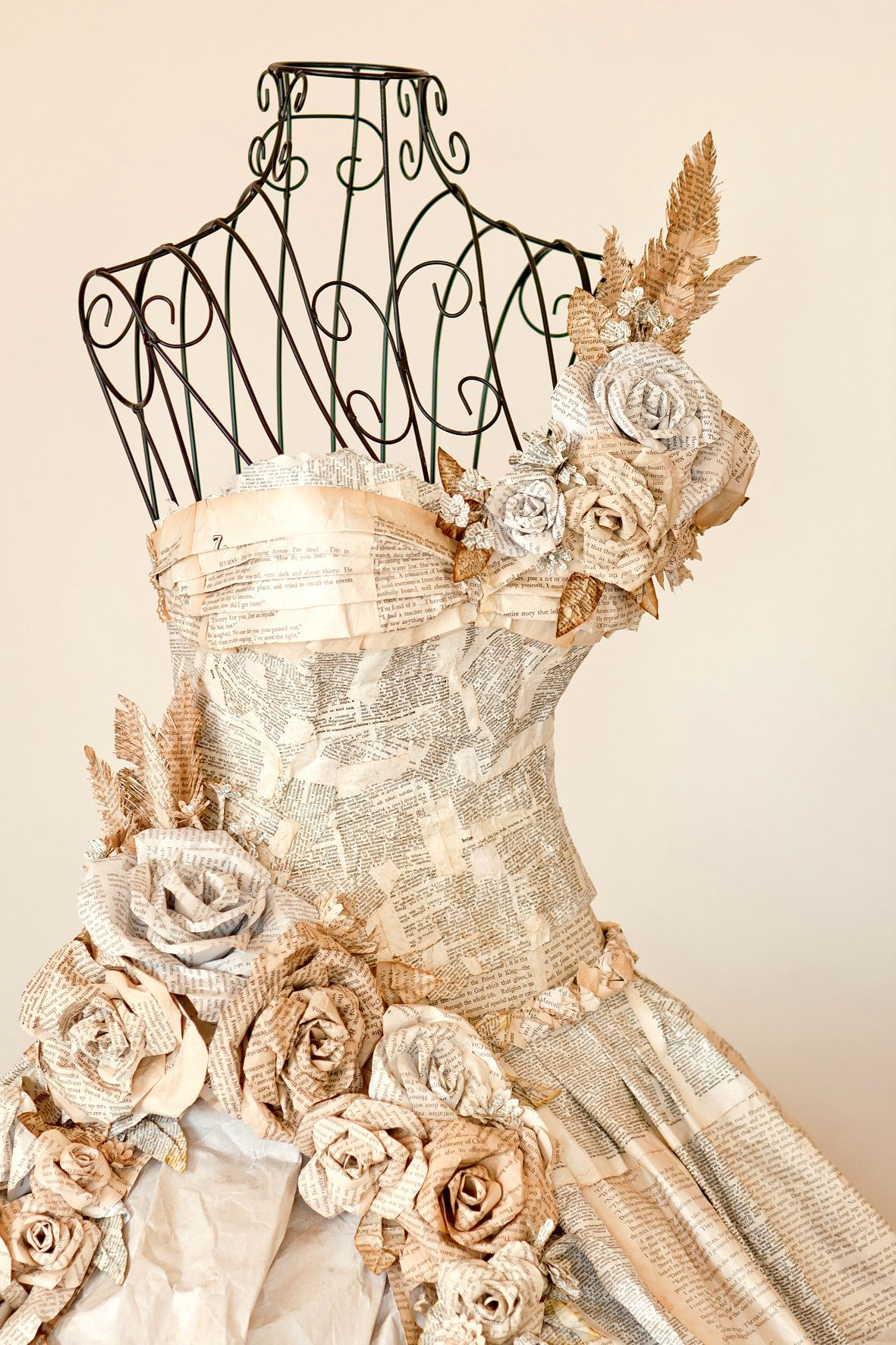 so i made this dress entirely out of book pages for a local art competition i didnt win anything - Book Pages Art