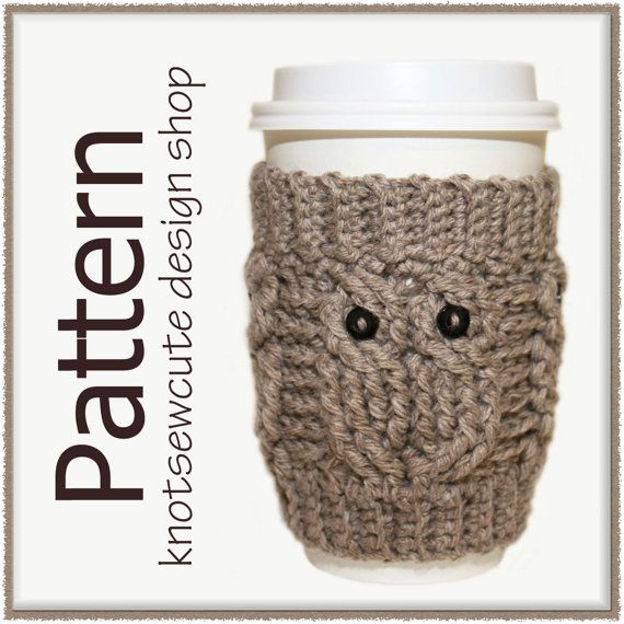 CROCHET PATTERN - Owl Love Coffee Cozy - Instant Download (PDF ...