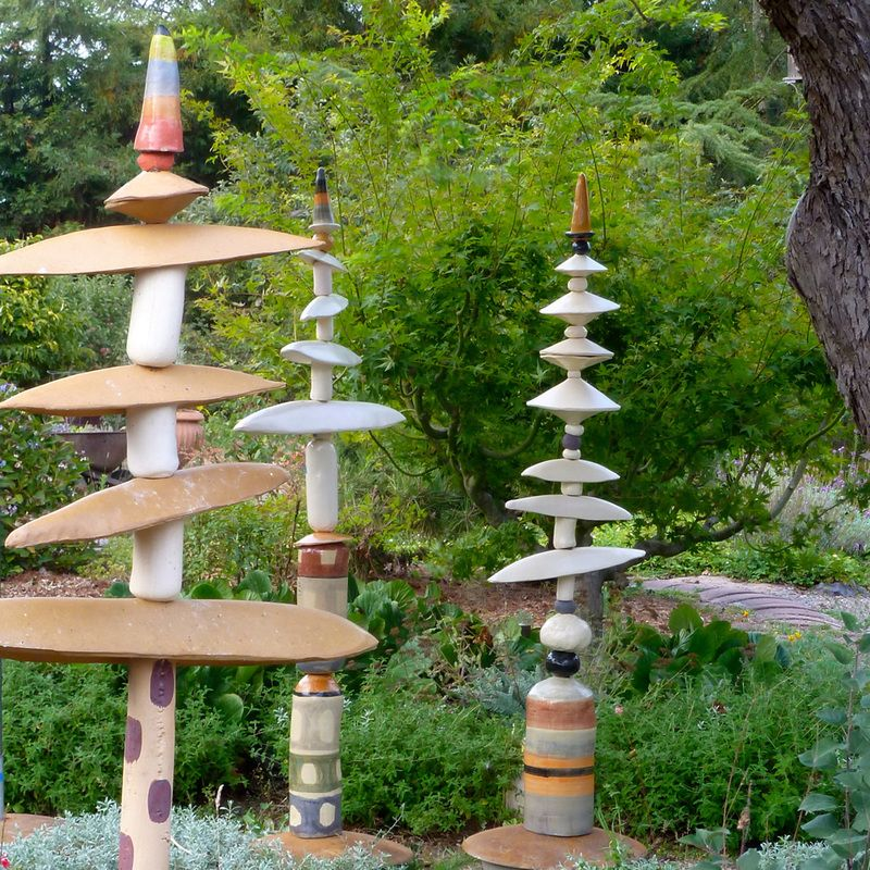 Height: 6 To Tall, 2 To Wide Materials: High Fired Clay, Concrete, Steel  Make An Appointment To Come See The Totems U0026 Garden Sculpture