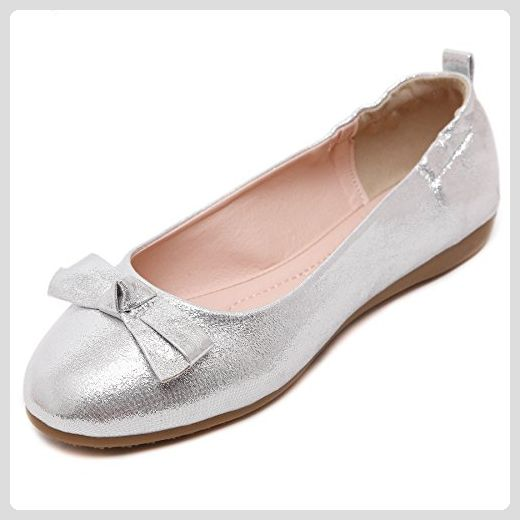 Smilun Ballerina Spitze Leder Silver Gr Grosse 39 Schuhe Damen Herbst Silver Bootsschuhe Fur Frauen Partner Link Schuhe Damen Ballerina Spitz Ballerinas