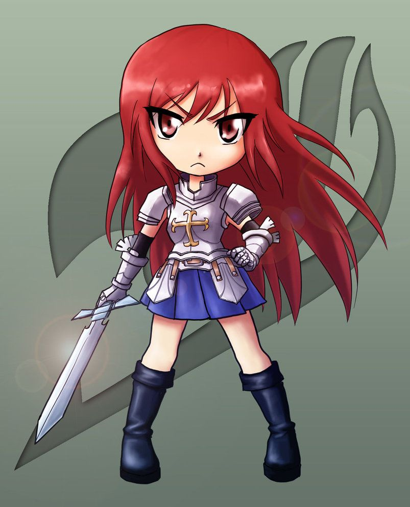 erza fanart cg roblox Erza Scarlet Chibi By Deidara44 On Deviantart Fairy Tail Backpack Erza Scarlet Fairy Tail Girls