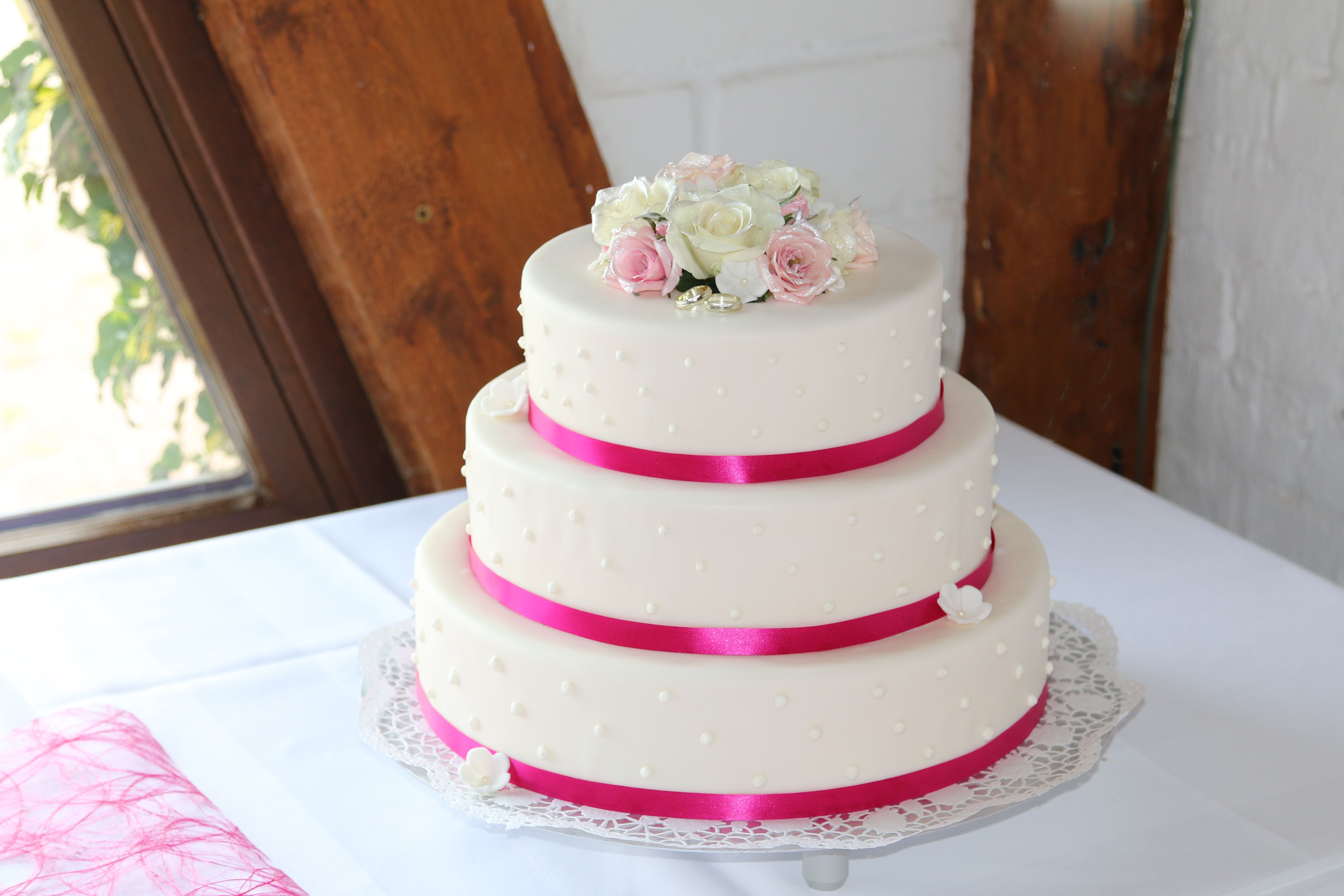"""Hochzeitstorte """" Pink"""""""