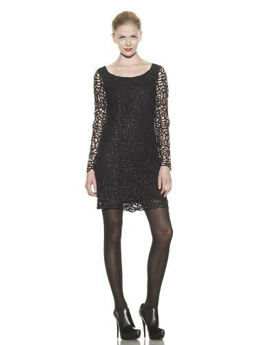 80 Off Catherine Malandrino Women S Cutout Embroidered Dress Black