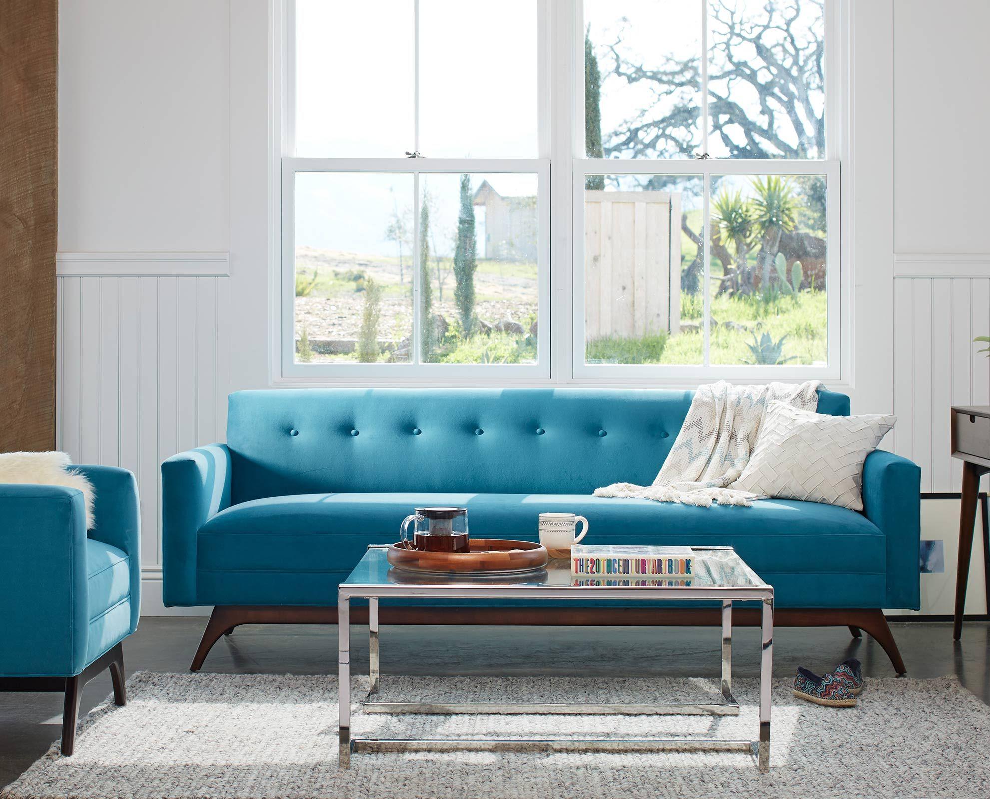 Dania The Hagen sofa offers refined mid century modern style