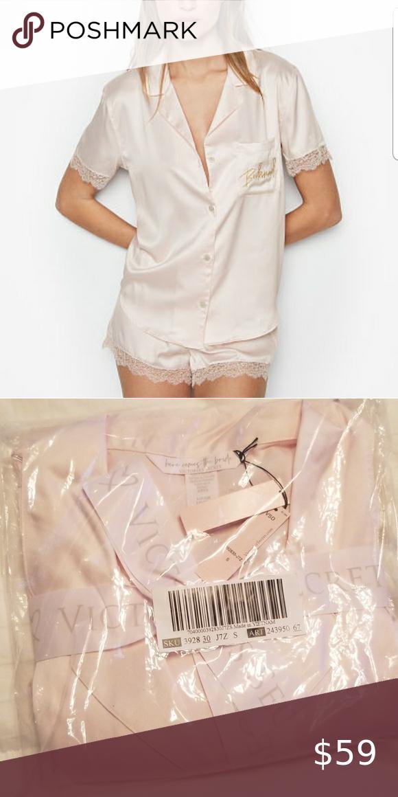 Victoria Secret bridesmaid Satin Short set 💕