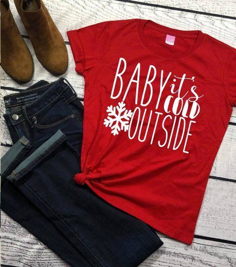 971f7d7c57 Baby it's cold outside - Christmas shirt - mom shirt - teacher shirt - mom  gift - teacher gift - funny Christmas shirt - holiday shirt by ...