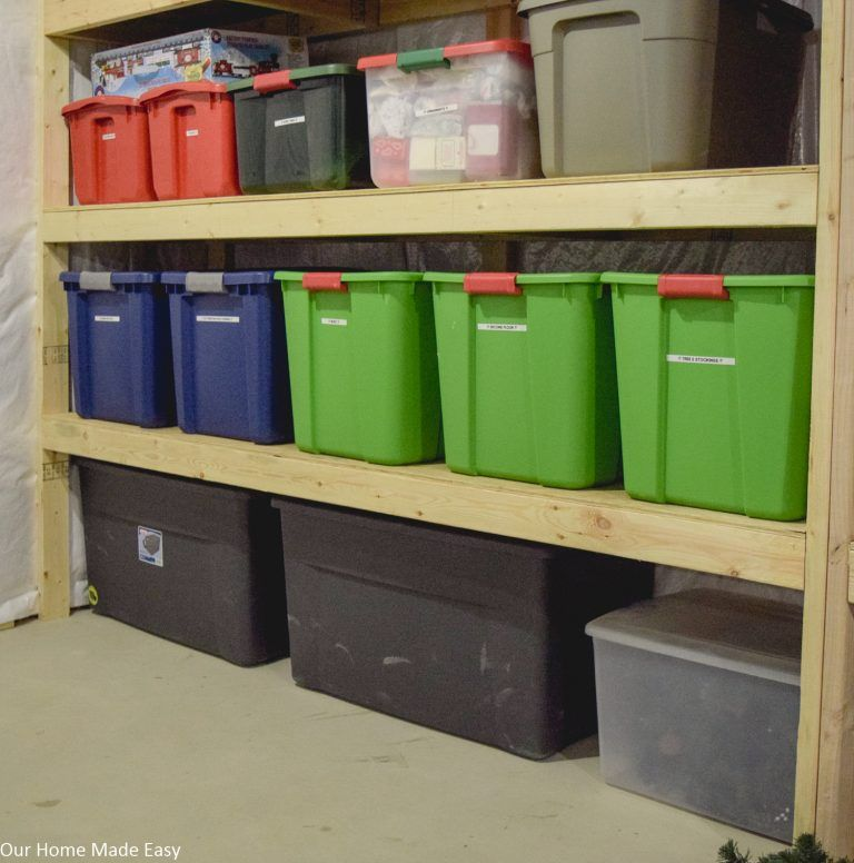 Easy DIY Storage Shelving For Less Than $70!