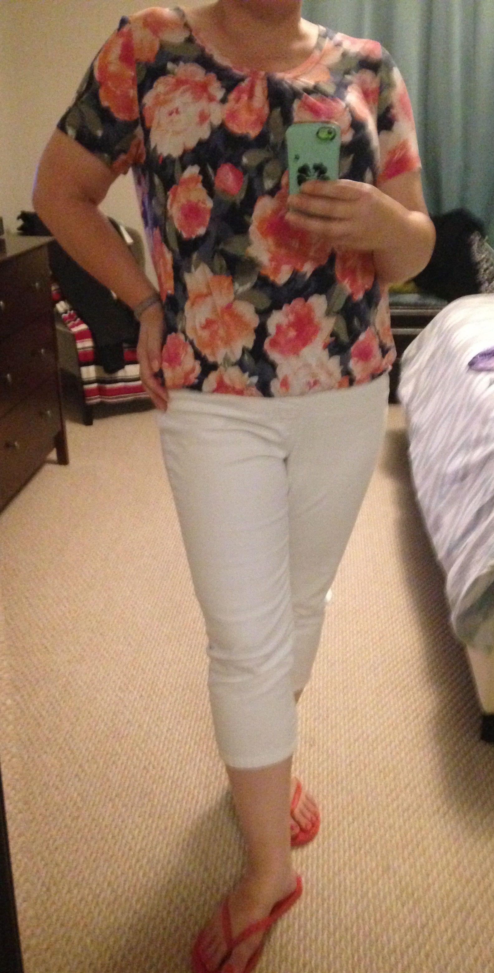 66b63de8a85e0 This is one of my g-to casual outfits. The t-shirt has short sleeves ...