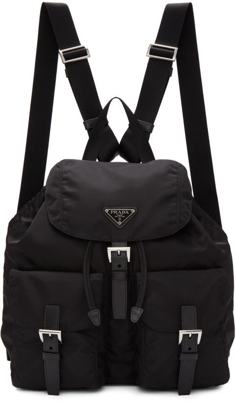ac79a9bccf9e Prada - Black Nylon Regular Backpack Sling Backpack, Prada Backpack, Pack  Up, Shoulder
