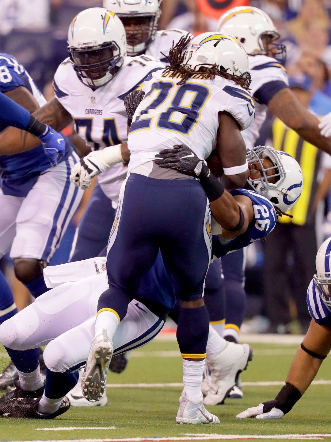 Reaction Colts Earn First Win Of Season In Thriller Vs San Diego Nfl Football Games Lucas Oil Stadium Nfl Football