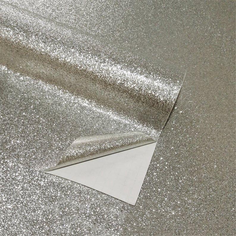 Self Adhesive Glitter Wallpaper For Walls Waterproof Peel And Etsy Glitter Wallpaper Wall Wallpaper Bling Wallpaper