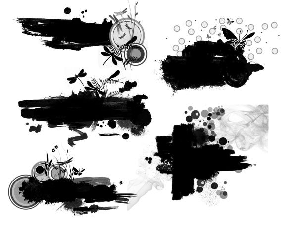 Ink with fashion elements photoshop brushes | Projects to